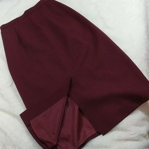c89f2f921a9 Vintage Skirts - Sexy Librarian high-waisted red wool pencil skirt